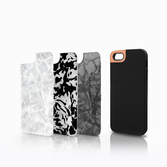 Rose Gold Metaluxe with Mother of Pearl Collection Backplates (iPhone 5)