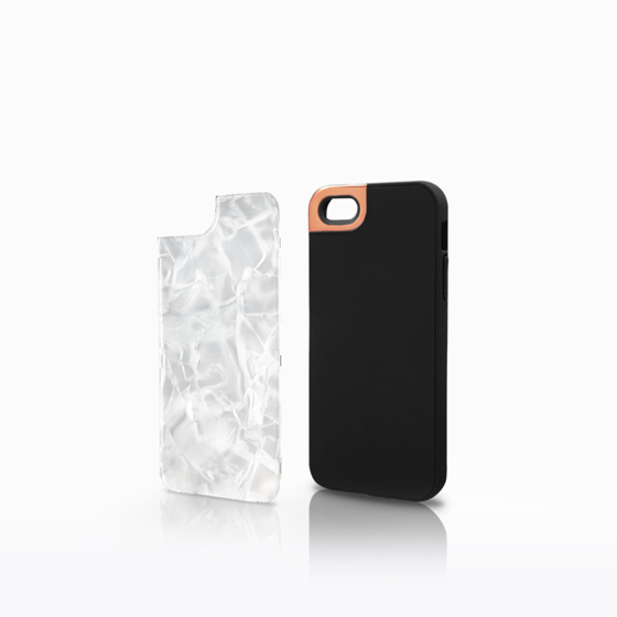 Rose Gold Metaluxe with White Pearl Backplate (iPhone 5)