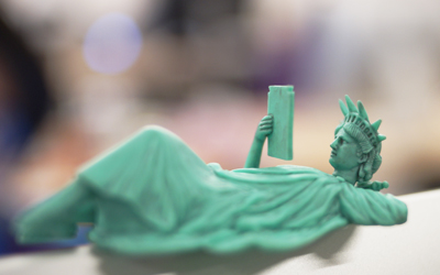 A chilling Statue of Liberty
