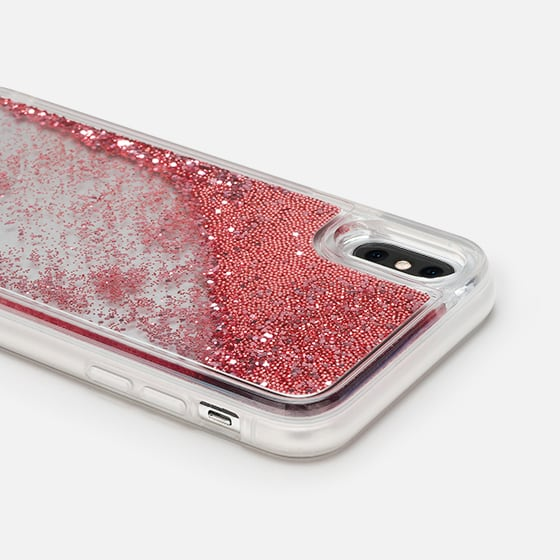 low priced be9ef b810e Glitter iPhone X Case - FLOWER & GOLD by Monika Strigel