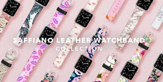 Saffiano Leather Watchband Collection