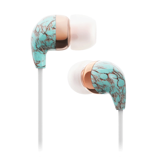 In-Ear Blue Turquoise Rose Gold