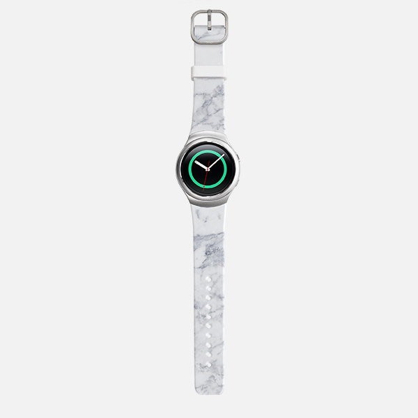 Samsung Gear S2 Sport White Marble Watch Band - White